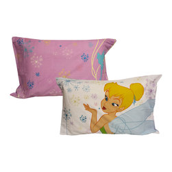 Store51 LLC - Tinkerbell Pillowcases 2-Piece Pixie Power Bedding Accessories - Features: