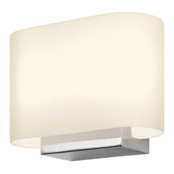 "Sonneman - Sonneman 3715 Link 2 Light 6"" Height ADA Xenon Wall Sconce - Sonneman 3715 Link 2 Light 6"" Height ADA Xenon Wall SconceA soft-radius, luminous frosted white glass is supported by a crisply modern, chrome, rectilinear volume. From bedrooms to accent areas the Link collection adds refinement to your contemporary space.Sonneman 3715 Features:"