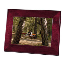 "Howard Miller - Howard Miller Rosewood Frame II - Howard Miller - Photo Frames - 655122 - Hardwood picture frame in a rosewood finish with a completely finished back and easel stand and takes a 5 x 7 "" photo or plate. Perfect for desk or shelf."