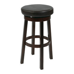"Office Star - Office Star Metro 30"" Metro Round Barstool In Cream Faux Leather - Features:"