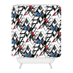 DENY Designs - Karen Harris Taliesin Multi Shower Curtain - Who says bathrooms can't be fun? To get the most bang for your buck, start with an artistic, inventive shower curtain. We've got endless options that will really make your bathroom pop. Heck, your guests may start spending a little extra time in there because of it!