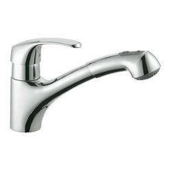 "Grohe - Grohe 3299900E Alira Single-Lever Kitchen Faucet Grohe Silkmove Ceramic Cartridg - Grohe 3299900E Alira Single-Lever Kitchen Faucet Grohe Silkmove Ceramic Cartridge, Chrome GROHE is one of the largest faucet importer in the U.S. and a market leader in many Eurpoean countries such as Germany and Europe. All in all, Grohe is one of the three largest faucet manufacturers in the world. with over 70 years of time spent refining their product, not only continues to innovate, but they listen to the customer and always strive to meet their ever increasing needs. Grohe faucets are seen everywhere from upscale residential homes to commercial applications. Innovations such as pull-out spray kitchen faucets, solid stainless steel kitchen faucets, single hole centerset lavs that replaced traditional American 4"" configurations are just a few of the concepts brought to the United States by Grohe. Grohe continues to define innovation, and never dwells on success but always pushes the"