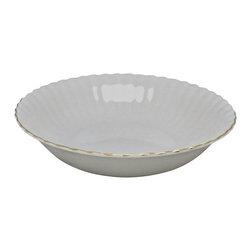 Royal Albert - Royal Albert Val D'or   Round Vegetable Bowl - Royal Albert Val D'or   Round Vegetable Bowl