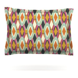 """Kess InHouse - Amanda Lane """"Sequoyah Ovals"""" Pillow Sham (Woven, 30"""" x 20"""") - Pairing your already chic duvet cover with playful pillow shams is the perfect way to tie your bedroom together. There are endless possibilities to feed your artistic palette with these imaginative pillow shams. It will looks so elegant you won't want ruin the masterpiece you have created when you go to bed. Not only are these pillow shams nice to look at they are also made from a high quality cotton blend. They are so soft that they will elevate your sleep up to level that is beyond Cloud 9. We always print our goods with the highest quality printing process in order to maintain the integrity of the art that you are adeptly displaying. This means that you won't have to worry about your art fading or your sham loosing it's freshness."""