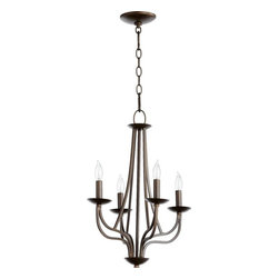 Joshua Marshal - Four Light Oiled Bronze Up Chandelier - Four Light Oiled Bronze Up Chandelier