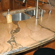 Concrete Counter top that looks like granite