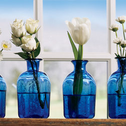 Cobalt Blue Vial - I love the cobalt blue glass in these vials. They're perfect for grouped flowers at windows. Root plants in them in the window so you can enjoy your plants while they're rooting.