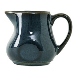 Tuxton - Artisan 4 oz Creamer Night Sky - Case of 12 - Each piece looks and feels as if it was handthrown creating a rustic and unique presentation. The lush vibrant glazes react differently with each firing so every piece is truly an original. Available in three colors inspired by the deserts of California: Mojave Night Sky and Red Rock.