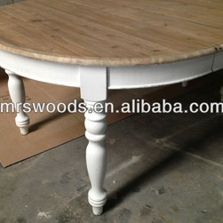 Reclaimed pine wood furniture - Best-selling french dining table, shabby chic appearance, can be with wheel or no wheel... Factory mass production provided, factory competitive price...For more, just refer to www.mrswoods.cn to choose best piece for your market or personal house.