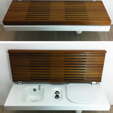 Contemporary  Hatria's G-Full toilet / bidet bench - CERSAIE 2013