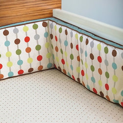 Skip Hop - Quick Ship! Chocolate Dot Fitted Crib Sheet - Chocolate Dot Fitted Crib Sheet