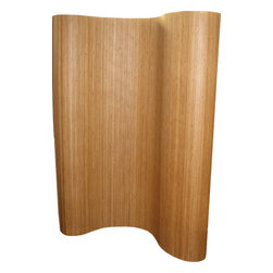 Boom - Bamboo Room Divider, Tan - Divide up some space in your room or simply make a statement with a beautiful screen of bamboo. This ecofriendly material is perfectly on-trend in any modern home. The sculptural shape allows you to create new spaces or hide a pile of laundry in style.