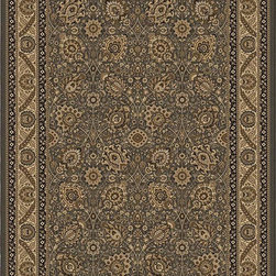 """Orian - Orian American Heirloom Protiva (Charcoal) 3'11"""" x 5'5"""" Rug - American Heirloom Collection, Orian Rugs' flagship collection is inspired by classic, hand-woven oriental rugs that combine understated elegance with classic style. The 1.5 million point design construction is densely woven with Orian's finest-denier yarns creating unparalleled visual dimension and pin point design clarity."""