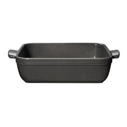 Emile Henry 2.1 qt. Square Baking Dish - Slate - A stunning and practical addition to your well-appointed kitchen, the Emile Henry 2.1 qt. Square Baking Dish - Slate makes a visual statement and tasty treats, too. You new kitchen essential, this sturdy square baking dish is perfect for whipping up brownies, cakes, au gratins, casseroles, and more and looks good doing it. It's beautifully handcrafted from local clay found in Burgundy, France and fired in a high heat-resistant oven. The dark slate gray color and translucent glaze are designed not to crack, discolor, or scratch. Just right for modern homes, this baking dish can go straight from the freezer to a 500-degree oven. It's also safe in the microwave, broiler, and dishwasher. About Emile Henry Emile Henry was founded in 1850 and is located in Marcigny, a small town tucked within the province of Burgundy, France. It is still owned and operated by the Henry family. Over the generations Emile Henry has established a world-renowned reputation for creating the finest quality ceramic ovenware, gourmet cooking products, and exceptional bakeware products. Their products include baking dishes and cake stands. The discerning gourmand will recognize the quality in every loaf pan, casserole dish, stew pot, handcrafted pie dish, trivet, tagine, and brazier they create. Emile Henry manufacturers all of their cooking products from clay found in the Burgundy region. Burgundy is noted for their world-famous wines due in part to the mineral-rich limestone soil. It is this soil and clay that go into the special clay cookware crafting formulas that are the basis of all Emile Henry ceramic cookware products.