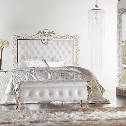 Dila Collection - See it to believe. This bed from our Dila Collection bed is unlike any other. Available in leather or fabric, in a wide variety of colors and metal finishes, each one is hand crafted in Italy. Surround yourself in luxury.