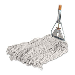 Genuine Joe - Genuine Joe Cotton Wet Mop with Handle - 60 Width x 0.94 Height Cotton HeadWood - Cotton Wet Mop is ideal for light or heavy jobs. Lightweight 15/16 x 60 natural wood handle will not rust. Mop includes a 24 oz. mop head made from absorbent, natural four-ply cotton yarn for damp mopping and scrubbing efficiency. Refillable mop head is made with a high percentage of recycled material.