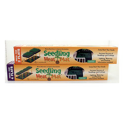 "Hydrofarm - Hydrofarm Seedling Heat Mat 107watts 48""x20"" - Get your vegetable or herb seedlings off to a strong start by using this safe seedling heat mat under your sprouts. The mat heats the growing medium by 10 to 20 degrees Fahrenheit, encouraging fast root development and fewer issues with slow growth."