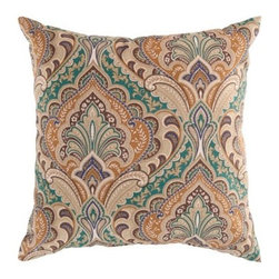 Surya 18 x 18 in. Polyester Decorative Pillow - Interior designers know pillows can update any room. Add the Surya 18 x 18 in. Polyester Decorative Pillow to your bedroom, sofa, or favorite chair for an instant make-over. This square pillow comes in a wide range of colors and patterns. It's crafted in the USA of polyester for a great look that lasts.About Surya RugsSince 1976 Surya has established itself as one of India's leading producers of fine hand-knotted, hand-tufted, and flat-woven rugs. Their products are sold in the U.S.A. at respected department and specialty stores. The company is known for its quality, value, dedication, and innovation. This includes responsibility for the entire process - spinning, dyeing, weaving, and finishing. Surya prides itself on using the best raw material available for the production of their rugs. They are proud members of Wools of New Zealand. From design concept through production, a Surya family member is involved, making sure that the highest standards are being met at each level. Surya works with top designers and constantly updates their designs and color palettes to match and set the trends in design and fashion for the home. Surya always means a fine choice in rugs.