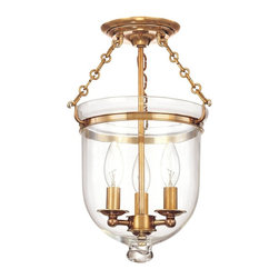 Hudson Valley - 251-AGB-C1 Hampton Foyer Lantern, Aged Brass, Plain Clear Glass - Williamsburg Foyer Lantern in Aged Brass with Plain Clear Glass glass from the Hampton Collection by Hudson Valley.