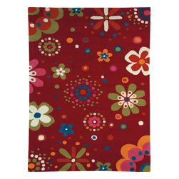 Dynamic Rugs - Dynamic Fan Girls 1705-300 Red 5' x 8' Area Rugs - Dynamic Fan Girls 1705-300 Red 5' x 8' Area Rugs