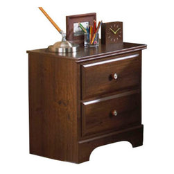 Standard Furniture - Standard Furniture Parker 2-Drawer Nightstand in Golden Brown Cherry - Parker Bedroom offers the perfect solution for rooms that have a smaller footprint, yet still need lots of storage.