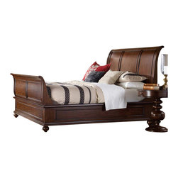 Hooker Furniture - Hooker Furniture Lassiter Sleigh Bed in Rich Warm Cherry-Queen - Hooker Furniture - Beds - 514290450 - There's not a more classic combination than traditional styling and cherry wood. The rich veneer and warm finish of cherry is synonymous with traditional furniture design.