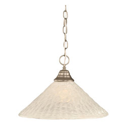 Toltec Lighting - Brushed Nickel Finish 1-Light Pendant with Bubble Glass - 1 medium base 150 watt bulb(s) (not included).