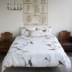 DwellStudio Chinoiserie Pearl Bedding Duvet Cover