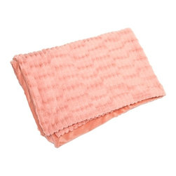 Blush Rose Pink Faux Fur Throw - Gemma - *In a blushing pink hue, the faux fur Gemma throw adds a soft touch of color to any home.