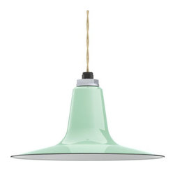 Ivanhoe® Sterling Deep Cone Reflector Porcelain Cord Pendant Light - If  you love the look of a shallow bowl pendant, check out the Sterling Deep Cone Reflector shade! Featuring a deep neck and flared, shallow shade, the Sterling comes in three sizes and a variety of brilliant porcelain finish colors. Choose a standard cord or add more personality to your fixture with a colored cotton cord. Perfect for dining rooms, kitchens, reading nooks, and more! - See more at: http://www.barnlightelectric.com/porcelain-lights-goosenecks-pendants/ivanhoe-pendant-lighting/ivanhoe-sterling-deep-cone-reflector-porcelain-cord-pendant-light.html#sthash.2H2Bfikm.dpuf
