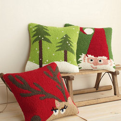 Hable Holiday Hooked Pillow Cover - I love this collaboration between Garnet Hill and Hable Construction. Their hooked pillow covers are just adorable.