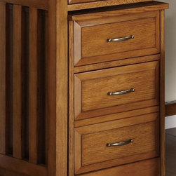 Liberty Furniture - Liberty Furniture Hampton Bay Mobile File Cabinet in Oak Finish - Hampton Bay makes the most of space & function with a casual desk & mobile file drawer.  This style will help keep you organized with ease.  Two finishes that work in any interior  mix well with wood tones. The desks have casual styling with raised drawer fronts and slat end panels.  The mobile file unit works great underneath the desk for out of the way storage or set a printer on top to make the most of this functional piece.Collection Features: English Dovetail ConstructionSatin Nickel Bar Pull HardwareMetal Drawer GlidesMetal Drawer GlidesFlip Down Keyboard TrayRemovable Pencil Storage CompartmentPunch Board Back on Desk Hutch