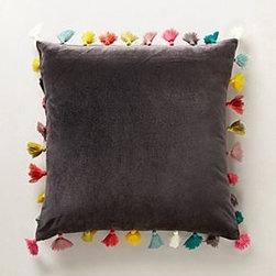 Anthropologie - Firenze Velvet Tassel Pillow - *Back zip