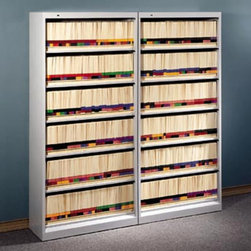 HON - HON 626 Series End Tab Open File - HON626CNL - Shop for File and Storage Cabinets from Hayneedle.com! Always have open access to files that need frequent retrieval with these Hon 600 Series Shelf Files. Insurance dental and medical records going back years are stored with ease. This system is especially designed for end tab files. Double triple or even quadruple the filing capacity of your floor space with this system. Includes two dividers for each shelf. Order this system for nearly endless end tab filing. About the HON CompanyHeadquartered in Muscatine Iowa the HON Company is established as a leader in the office furniture industry. The HON Company designs and manufactures products including chairs files panel systems tables and desks. With several national manufacturing facilities the company provides products through a system of dealers and retailers throughout the United States. In an effort to think and act green the HON Company uses less packing material reduces their amount of fabric waste and uses recycled wood from other furniture.