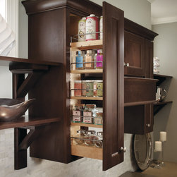 Homecrest Wall Pullout - Making the most of a slim space, the Wall Pullout  is perfect for storage of spices, oils and other kitchen necessities.