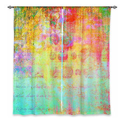 "DiaNoche Designs - Window Curtains Lined by China Carnella Hybrid Ocean - Purchasing window curtains just got easier and better! Create a designer look to any of your living spaces with our decorative and unique ""Lined Window Curtains."" Perfect for the living room, dining room or bedroom, these artistic curtains are an easy and inexpensive way to add color and style when decorating your home.  This is a woven poly material that filters outside light and creates a privacy barrier.  Each package includes two easy-to-hang, 3 inch diameter pole-pocket curtain panels.  The width listed is the total measurement of the two panels.  Curtain rod sold separately. Easy care, machine wash cold, tumble dry low, iron low if needed.  Printed in the USA."