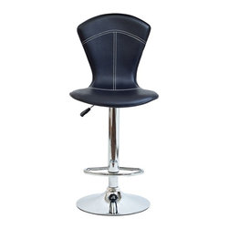 Modway - Modway Cobra Bar Stool - EEI-637-BRN - Shop for Home Furnishings and Accents from Hayneedle.com! There's no venom but you may get bit hard by the stylish look of the Modway Cobra Bar Stool. As sleek as a race car the vinyl upholstery features stitched detailing. The shiny chromed base trims the look perfectly while the adjustable height provides the ultimate in comfort. Choose from available colors. Assembly required.About ModwayModway designs and manufactures modern classic furniture pieces for the contemporary home. The quality pieces are fresh and elegant with a distinctively updated appeal. Simple clean lines and a vibrant selection of colors and finishes make these pieces perfect for the home or office. A wide selection of products include pieces for the living room dining room bar office and outdoors. High-quality and innovative designs make Modway the premier company for luxurious modern style.