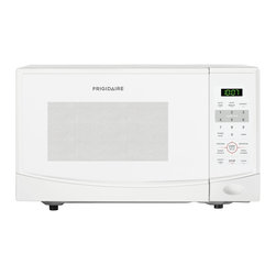 Frigidaire - Frigidaire 0.9-cubic-foot White Countertop Microwave Oven - This countertop microwave oven will ensure that you can make a quick bite to eat whenever you choose. The white color will match with any color scheme that you have in your kitchen. There are multiple settings to make cooking easier than ever.