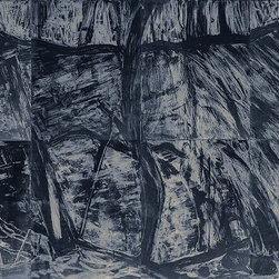 Abstract Fine Art Prints - Deborah Freedman Waterfall Suite/Blue 8 etchings total 72 x 108 inches $10,000
