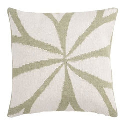 "Surya - Surya 22 x 22 Decorative Pillow, Green and Ivory (FA013-2222P) - Surya FA013-2222P 22"" x 22"" Decorative Pillow, Green and Ivory"