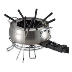 Cuisinart - Cuisinart Electric Fondue Set - Whether you prefer to use it for fabulous desserts or scrumptious appetizers, you'll appreciate the convenience of this electric fondue set. As a member of the brushed stainless steel series, it has an attractive brushed stainless steel housing.
