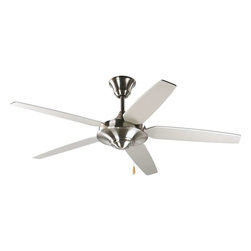 "Progress Lighting - Progress Lighting Airpro 54"" 5-Blade Energy Star Fan - P2530-09 - Description:"