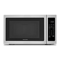 """KitchenAid - Architect II KCMC1575BSS 22"""" Countertop Microwave with 1.5 cu. ft.  1 500 Watts - This countertop microwave oven operates at 1200 watts of microwave power and includes a separate 1500 watt convection element that allows you to use this microwave as a true second oven In addition to convection you can also grill and roast similar t..."""