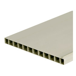 "Storewall - Heavy Duty Shelf, 10"" - The 10"" shelf is reversible. On one side it's a shelf; flip it over and it becomes a tray with a 1/4"" lip, great for keeping things in place. Extruded from strong, lightweight thermoplastic, the shelves are incredibly strong, do not require paint or finishing and are simple to keep clean. The 10"" shelves are installed with shelf brackets (sold separately).Endcaps optional (sold seperately)"