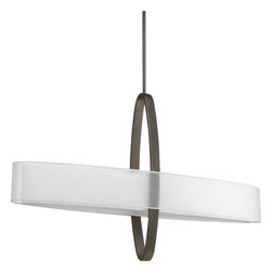 """Progress Lighting - P5049-20 Progress Lighting Cuddle - Progress Lighting P5049 Cuddle 6-Light Island Light Cuddle 6-Light Pendant is comprised of a sculptural play of intersecting ovals. An oval frame embraces. This product by Progress Lighting is available in antique bronze. Illuminated by six 60-watt clear incandescent candelabra bulbs. Constructed of Steel. Designed to cast light in a downward direction. Oval Shaped Shade. (1) 6"""" Sections and (4) 12"""" Sections of Down Rods Included. (6) Links of 9 Gauge Chain Included. Dual Shades: Mylar Exterior Shade and Linen Interior Shade. Height: 26.5"""". Maximum Height: 93"""". Width: 42"""". Extension: 8"""". Wire Length: 180"""". Bulb Base: Candelabra (E12). Bulb Type: Incandescent. Bulb Type: Compact Fluorescent. Watts Per Bulb: 60. Total Wattage: 360. CSA Approved: Yes. CSA Rating: Dry Location. CSA Listed - A Nationally Recognized Testing Laboratory, Canadian Standards Association is very familiar with U.S. requirements. According to OSHA regulations, the CSA-US Mark qualifies as an alternative to the UL Mark."""