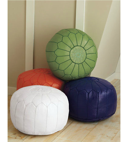 mediterranean ottomans and cubes by Garnet Hill