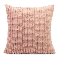 """IMAX - Gemma Faux Fur Pillow - In a blushing pink hue, the faux fur Gemma pillow adds a soft touch of color to any home. Item Dimensions: (18""""h x 18""""w)"""