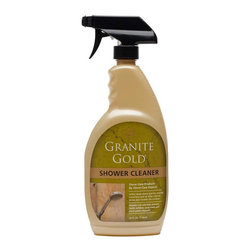 Granitegold - Granitegold Bathroom Granite Gold Shower Cleaner - 4 Pack - Cleaning showers and baths is hard enough, and when you add granite cleaning and other natural-stone care to the task, it shouldn't make it more difficult. Ordinary, everyday shower and bath cleaners can damage natural stone and lead to costly repair and replacement. Our streak-free formula safely deep-cleans granite, marble, travertine and all other natural-stone and ceramic shower walls and tub surrounds without damaging natural-stone surfaces. Regular use of this granite cleaner for showers and baths will help prevent mold, mildew, soap scum and hard-water deposits. Safe on bath and shower fixtures. . Non-toxic. Non-acidic. . pH Balanced. . Biodegradable. . No phosphates or ammonia. .