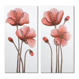 Uttermost - Uttermost 41376 Floral Aura Set of 2 Wall Art - Uttermost 41376 Floral Aura Set of 2 Wall ArtFeatures: