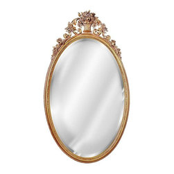 Hickory Manor House - Oval Flower Basket Mirror in Antique Gold Fin - Vintage original. Custom made by artisans unfortunately no returns allowed. Enhance your decor with this graceful mirror. Made in the USA. Made of pecan shell resin. 22 in. W x 40 in. H (17 lbs.)